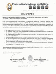 coronavirus boliche